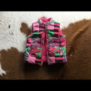 Lilly Pulitzer Reversible Vest, Size XS (2-3)